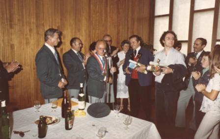 Première réception à Ville-la-grand en 1979.