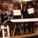 La signature en 1985.